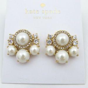 """★Kate Spade New York """"Pearl Cluster"""" Stud Earrings"""